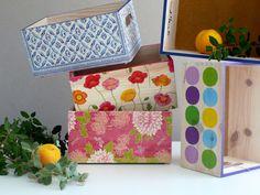 Cajas de madera decoradas con decoupage por El piojito. Wooden box decoupage. www.elpiojito.es