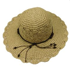Beaded Crochet Toyo Sun Hat