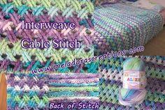 Interweave cable stitch