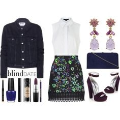 I really like the floral mini and the jacket. Not the blouse. Maybe the purse though?