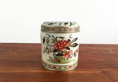 Vintage Floral Tin Canister – Daher