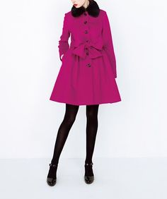 11/15ラブリータイプのコート。丸襟。大きめのボタン。おリボンディテール。