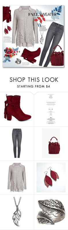 """""""Fall Sweater ~ Dorothy Perkins Bow Back"""" by pwhiteaurora ❤ liked on Polyvore featuring Refresh, StyleNanda, Paige Denim, Ann Taylor, Dorothy Perkins, SHE and NOVICA"""