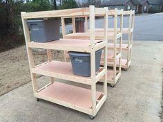 Rolling Garage Shelves