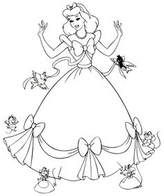 coloring page disney prince and princesses paper doll | Disney, Princess Coloring Pictures