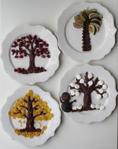 Cutest Tu B'Shevat idea ever. Make edible trees using traditional dried fruits and chocolate. And so fun for the kids. Must do this for (aka the Jewish Edible Crafts, Food Crafts, Decor Crafts, Home Decor, Edible Art, Chocolate Tree, Chocolate Frosting, Jewish Crafts, Fruit Decorations