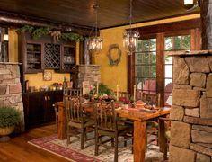 Stones and Wood Create Cabin Magic