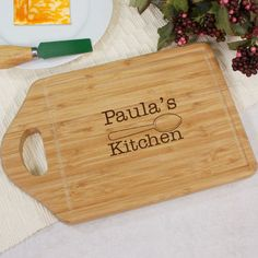 Personalized Engraved Kitchen Bamboo Cheese Carving Board - Gifts Happen Here
