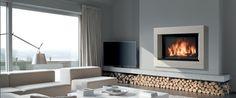 Foyers on pinterest - Photo de cheminee moderne ...