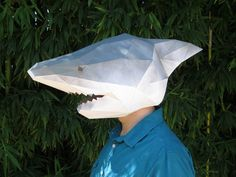 Make Your Own Shark Mask with just Paper and by TetraVariations
