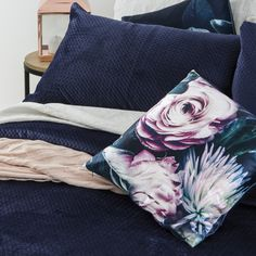 Mineral Dark Blue Coverlet Set | Pillow Talk