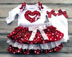 Valentines Polka Dot Ruffle Bloomers 2T 3T 4T by HottieTottieGirl