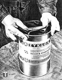 Canister of cyclon B gas used in gas the chambers.