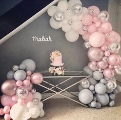 A simply Gorgeous DIY Balloon Garland Kit fantastic for a wedding, baby shower party or birthday party. Shower Party, Baby Shower Parties, Baby Shower Themes, Shower Ideas, Baby Showers, Balloon Garland, Balloon Arch, Flower Balloons, Balloon Games