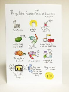 Things Irish Emigrants miss at Christmas Time - Twisted Doodles