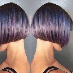 Short Galaxy Hair Color Ideas