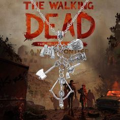 Hot TV Play Jewelry The Walking Dead Necklace Crossbow Gun Pendant Neckalce Alloy Charm Men Necklace Hallowmas Gift Bijoux Men Necklace, Pendant Necklace, Bow Arrows, Crossbow, Fan Gear, The Walking Dead, Great Gifts, Bows, Vintage