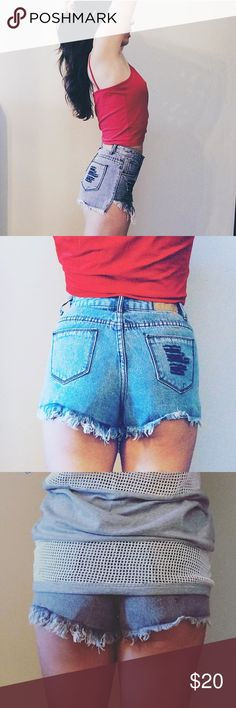Denim Midi Shorts Available in XS and S. Model is wearing small. Only one pair of each size left, let me know your size and I'll make a listing for you! Ashes & Ivy  Jeans