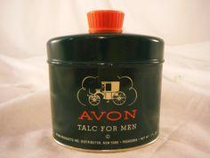 Collectible Vintage 1950 s Avon Talc For Men Talcum Powder 2.6oz Tin | eBay