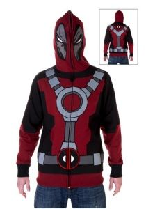 0d0c1684d19 Marvel Gift Ideas Deadpool  Adult Deadpool Hoodie 100% Polyester. Zipper  closure. Includes