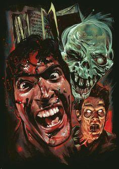 Officially Licensed EVIL DEAD 2 T-shirt! Art by Graham Humphreys. Horror Icons, Horror Movie Posters, Film Posters, Best Horror Movies, Scary Movies, 80s Movies, Horror Films, Film Movie, Bruce Campbell Evil Dead
