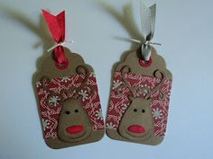 Whimsical Reindeer Tags...Card Corner by Candee.