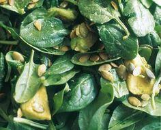Spinach,Avacado and Pumpkin Seed Salad by Nigella