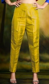 Golden Yellow Cigarette Pants Skinny Trousers - Silk #bestcigarettetrousers #cigarettetrouserstyleStylish silk golden yellow cigarette pants also known as skinny trousers. Available in size extra small to large. USD $ 39 (Around £ 27 & Euro 30)