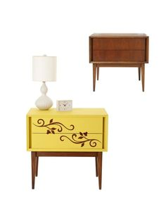 Deck Out a Nightstand With a Botanical Pattern - Flea Market Flips on HGTV