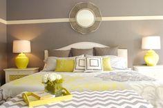 schlafzimmer-grau-gelb-weiss-schoen-kombinierte-farben
