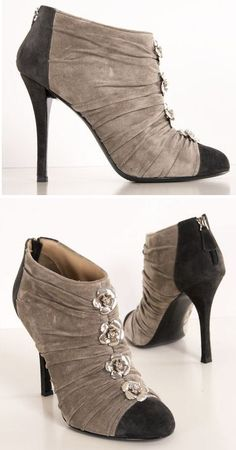 Chanel Nude Rosette Heels... If only the heels were a little thicker.