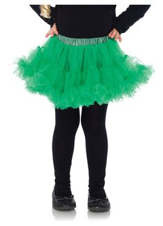 Green Girls Petticoat Underskirt by Leg Avenue Fancy Dress Outfits, Cute Summer Outfits, Dance Outfits, Kids Outfits, Halloween Costumes For Girls, Girl Costumes, Children Costumes, Halloween Halloween, Vintage Halloween