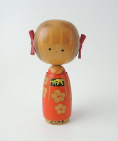 Vintage kokeshi doll DESCRIPTION Its hand painted . SIZE: Approx. H13cm (5.1in) CONDITION Minor scratches. Look at all enlarged pictures carefully and if you are unsure of anything please ask. SHIPPING The shipping cost listed for this item is for ECO SAL WITH TRACKING NUMBER. It takes around 2/3 weeks to arrive (Up to 12 weeks for some countries). There is NO INSURANCE. For AUSTRALIA, GERMANY, DENMARK, FINLAND, NORWAY, HUNGARY, POLAND and GREENLAND the tracking number is not possibl...