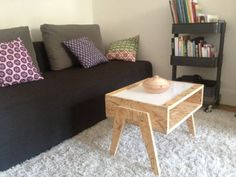 Low osb white plexi table by mixwood on etsy osb - Table basse plexi ...