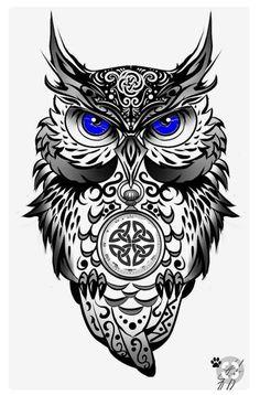 Tribal Owl Tattoos, Skull Tattoos, Body Art Tattoos, Sleeve Tattoos, Circle Tattoos, Geometric Tattoos, Tattoo Ink, Fish Tattoos, Tattoo Designs