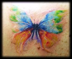 Watercolor Butterfly tattoo... It's artistic and interesting :)