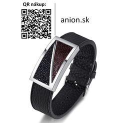 RESA - pánsky luxusný náramok - oceľ + pravá koža - nastaviteľná veľkosť Smart Watch, Watches, Fashion, Locs, Beads, Luxury, Moda, Smartwatch, Wristwatches