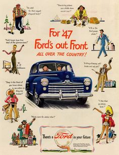 For '47 Ford's ou front all over the country!