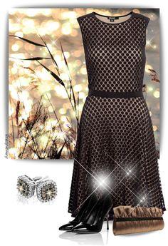 """Champagne Diamond & White Gold Earrings"" by diamondcrazy on Polyvore"