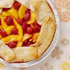 Peachy Cream Cheese Pie. This easy pie with its no-bake cream cheese filling makes a refreshing summertime dessert.
