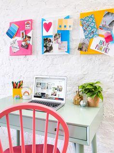 DIY Colorful Canvas Pin Boards