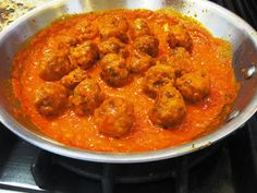 Snacking in the Kitchen: Spanish Tapas: Spanish Pork Meatballs with Piquillo Pepper Sauce