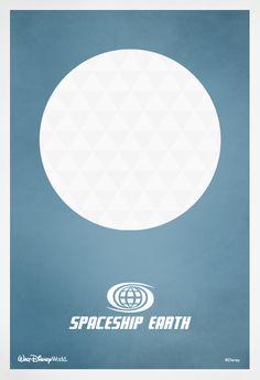 Spaceship Earth #minimalist #poster