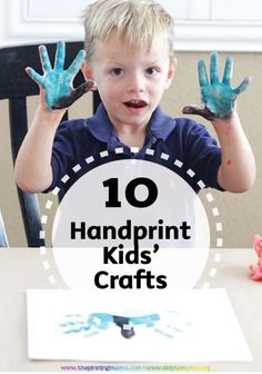 Break out the paint and Bounty Paper Towels for these 10 Awesome Handprint Kids' Crafts. See all the easy, creative boredom busters for summer right here.