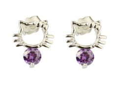 925 Sterling Silver Hello Kitty with 4mm Purple Cubic Zirconia Ear Stud Fashion Every Day,http://www.amazon.com/dp/B00GX3F030/ref=cm_sw_r_pi_dp_M1eLsb1VA8F7YHN3