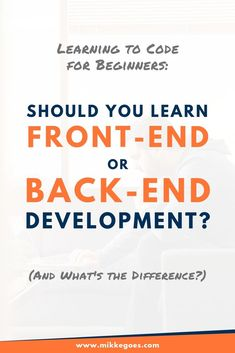 What is the difference between front end and backend development? Which area should you specialize in? What tools do you need to learn? Find out what backend and frontend web developers do and what skills you need to start a full-time career in either area. Also, discover tutorials and beginner-level online courses to start learning the basics right away! #mikkegoes #coding #webdevelopment #programming #webdeveloper #technology #learntocode Learn Programming, Computer Programming, Python Programming, Computer Lab, Computer Science, Agile Software Development, Web Development, Coding Websites, Coding For Beginners