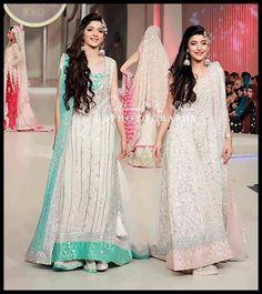 Pakistani Actresses Urwa Marwa At Pantene Bridal Couture Week 2013