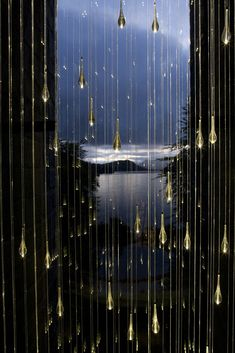 """Indoor sculpture by British light artist Bruce Munro who exhibits """"Light,"""" a collection of 10 large-scale outdoor lighting installations coupled with indoor sculptures at the Cheekwood Botanical Garden in Nashville, Tennessee."""
