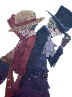 Luffy and Sabo <br> One Piece Manga, One Piece サボ, One Piece Funny, One Piece Drawing, Zoro One Piece, One Piece Comic, One Piece Fanart, One Piece Pictures, One Piece Images