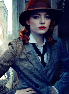 Emma Stone photographed by Annie Leibovitz for Vanity Fair.